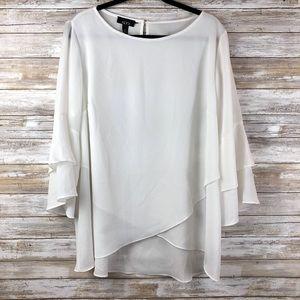 ALYX  1X Cream Blouse 3/4 Bell Sleeves